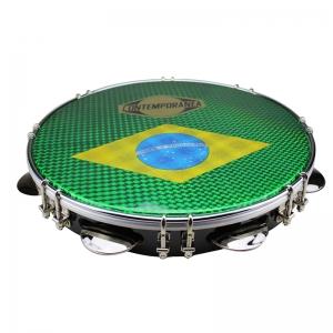 "Pandeiro 10"" negro bandera brasil"