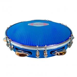 """Pandeiro 10"""" azul, parche azul"""