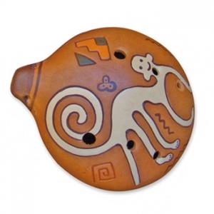 Ocarina pintada 11 cm 6 agujeros