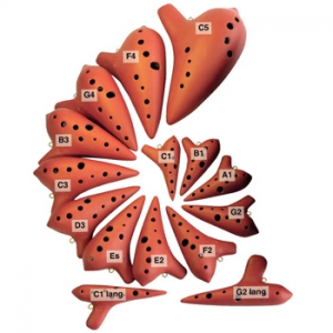 Ocarina (Si) 10 ag. b1-c3, cerámica